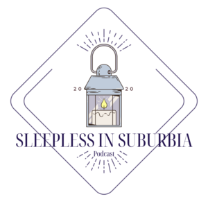 sleepless in suburbia logo for paranormal podcast